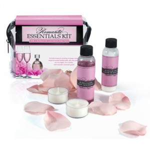 lover's choice rose petal and massage oil kit