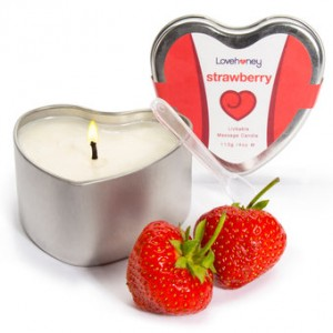 strawberry lickable candle